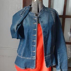 a.n.a fix Stitch distressed jacket L